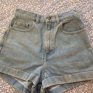 American Apparel light demin shorts